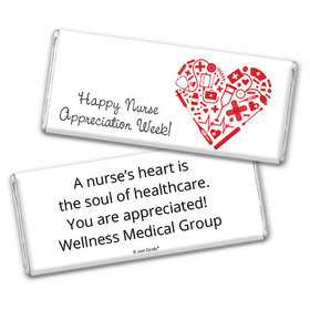 Nurse Appreciation Personalized Chocolate Bar First Aid Heart