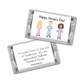 Nurse Appreciation Personalized Hershey's Miniatures Wrappers Multicultural Scrubs