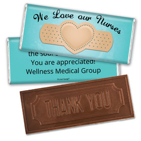 Nurse Appreciation Personalized Embossed Chocolate Bar Bandage Heart