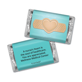 Nurse Appreciation Personalized Hershey's Miniatures Wrappers Bandage Heart