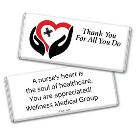 Nurse Appreciation Personalized Chocolate Bar Healing Hands