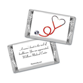Heart Stethoscope Personalized Hershey's Miniatures Wrappers Heart Stethoscope