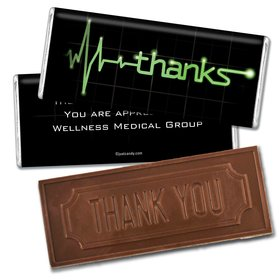 Nurse Appreciation Personalized Embossed Chocolate Bar Heartbeat of Thanks