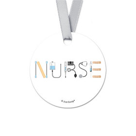Round First Aid Nurse Appreciation Favor Gift Tags (20 Pack)