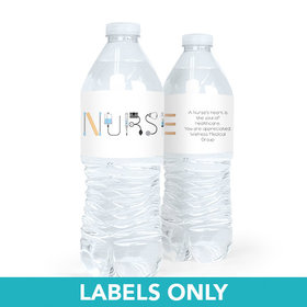 Personalized Nurse Appreciation First Aid Water Bottle Sticker Labels (5 Labels)