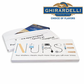 Deluxe Personalized Nurse Appreciation First Aid Ghirardelli Chocolate Bar in Gift Box