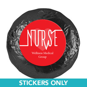 "Personalized Nurse Appreciation 1.25"" Stickers Nurse Pulse (48 Stickers)"
