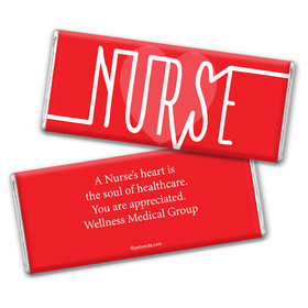 Nurse Appreciation Personalized Chocolate Bar Nurse Pulse