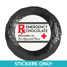 "Nurse Appreciation 1.25"" Stickers Emergency Chocolate (48 Stickers)"
