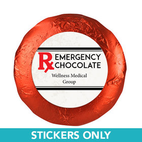 "Personalized Nurse Appreciation 1.25"" Stickers Emergency Chocolate (48 Stickers)"