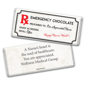 Nurse Appreciation Personalized Chocolate Bar Emergency Chocolate