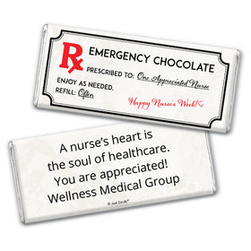 Nurse Appreciation Personalized Chocolate Bar Wrappers Emergency Chocolate