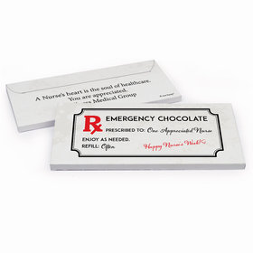 Deluxe Personalized Nurse Appreciation Emergency Chocolate Bar in Gift Box
