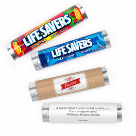 Personalized Nurse Appreciation Happy Nurses Day Lifesavers Rolls (20 Rolls)