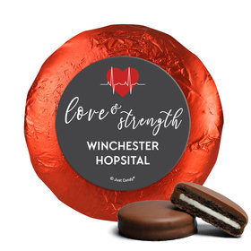 Personalized Nurse Appreciation Heart Beat Chocolate Covered Foil Oreos s