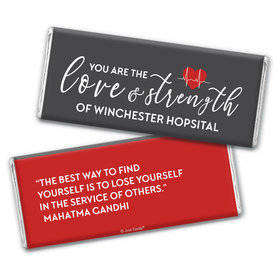 Personalized Nurse Appreciation Heart Beat Chocolate Bars