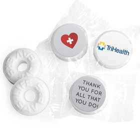 Personalized Nurse Appreciation First Aid Heart Life Savers Mints