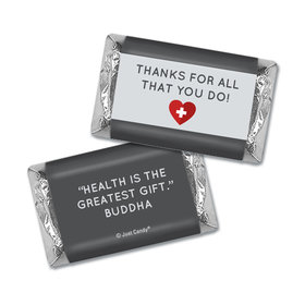 Personalized Nurse Appreciation First Aid Heart Hershey's Miniatures