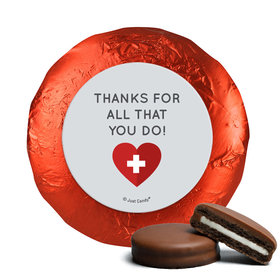 Personalized Nurse Appreciation First Aid Heart Chocolate Covered Foil Oreos s