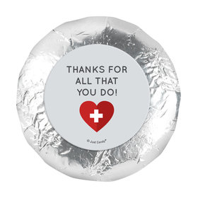 "Personalized Nurse Appreciation First Aid Heart 1.25"" Sticker (48 Stickers)s"