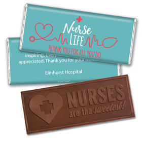 Personalized Nurse Appreciation Nurse Life Embossed Nurse Chocolate Bars