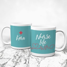 Personalized Nurse Appreciation Week Nurse Life 11oz Mug Empty