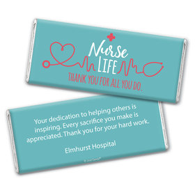 Personalized Nurse Appreciation Nurse Life Chocolate Bar Wrappers Only