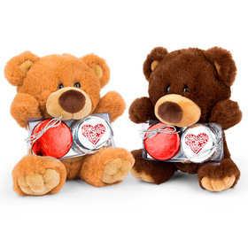 Personalized Nurse Appreciation Nurse's Heart Teddy Bear with Chocolate Covered Oreo 2pk