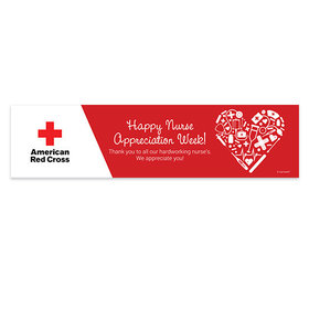 Personalized Nurse Appreciation Add Your Logo First Aid Heart 5 Ft. Banner