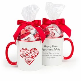 Nurse Appreciation Nurse's Heart 15oz Mug with Hershey's Miniatures