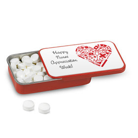 Nurse Appreciation Nurse's Heart Mint Tin (12 Pack)