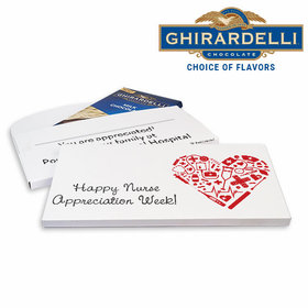 Deluxe Personalized Nurse Appreciation Heart Ghirardelli Chocolate Bar in Gift Box