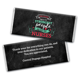 Personalized Nurse Appreciation Strongest People Chocolate Bar Wrappers Only