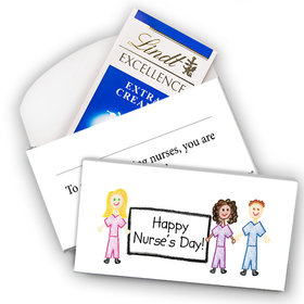 Deluxe Personalized Nurse Appreciation Lindt Chocolate Bar in Gift Box- Scribble Nurses