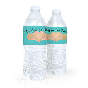 Personalized Nurse Appreciation Bandage Heart Water Bottle Labels (5 Labels)