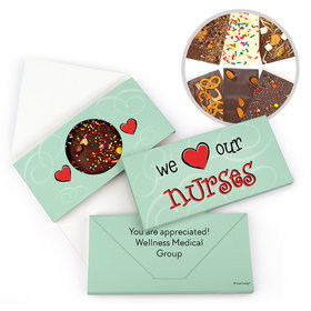 Personalized Nurse Appreciation We Heart Nurses Gourmet Infused Belgian Chocolate Bars (3.5oz)