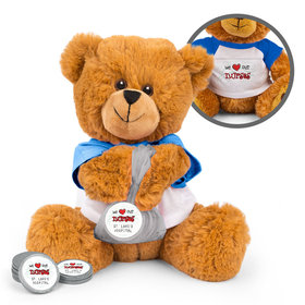 Personalized Nurse Appreciation We Heart Nurses Teddy Bear with Chocolate Coins in XS Organza Bag