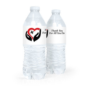 Personalized Nurse Appreciation Healing Hands Water Bottle Labels (5 Labels)