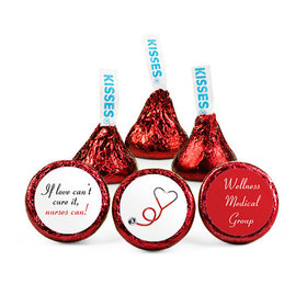 Personalized Nurse Appreciation Heart Stethoscope Hershey's Kisses (50 pack)