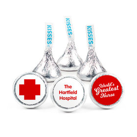Personalized Nurse Appreciation Red Cross Hershey's Kisses (50 pack)