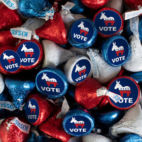 Democrat Election Candy Patriotic Hershey's Kisses