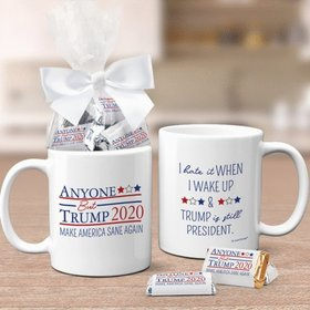 Presidential Election Anyone But Trump Coffee Mug with approx. 24 Wrapped Hershey's Miniatures