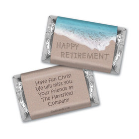 Retirement Personalized Hershey's Miniatures Wrappers Message in Sand by Sea