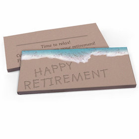 Deluxe Personalized Retirement Beach Candy Bar Favor Box