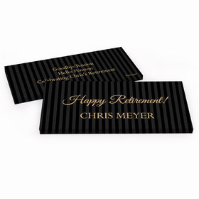 Deluxe Personalized Retirement Pinstripe Hershey's Chocolate Bar in Gift Box