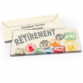 Deluxe Personalized Retirement Passport Candy Bar Favor Box