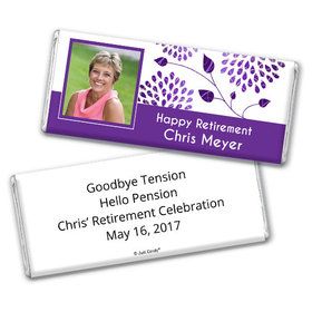 Retirement Personalized Chocolate Bar Photo and Leaves