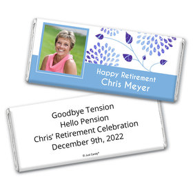 Retirement Personalized Chocolate Bar Wrappers Photo and Leaves