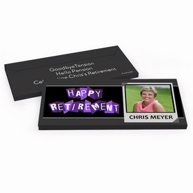 Deluxe Personalized Retirement Photo Hershey's Chocolate Bar in Gift Box