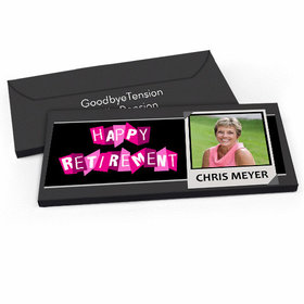 Deluxe Personalized Retirement Photo Candy Bar Favor Box
